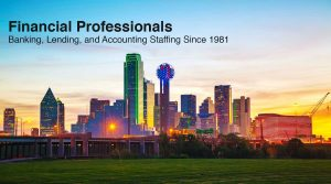 Financial Professionals is a Dallas-based staffing and recruiting agency specializing in bank, finance, lending, and accounting jobs.